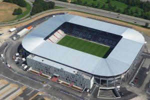 Die SGL-Arena in Augsburg von oben