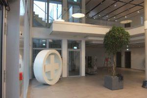 Die Innenansicht des Distributionsgebäudes in Weinstadt