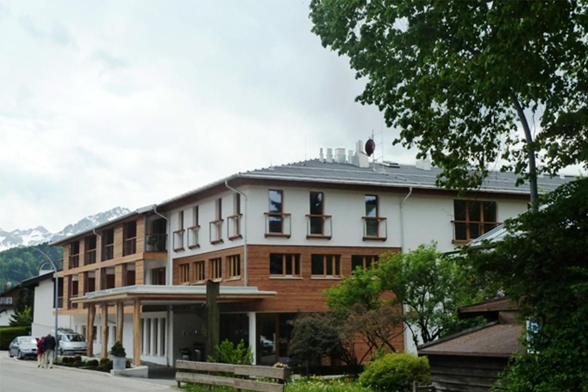 Außenansicht des Hotel Exquisit in Oberstdorf