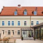 Das Brauereigasthaus in Mertingen von außen