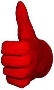 DTB Ausbau Handschuh Daumen hoch