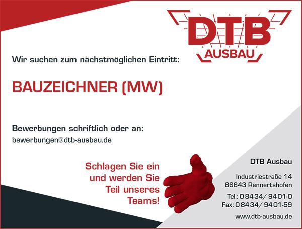 Stellenausschreibung als Bauzeichner bei DTB - Karriere - Job